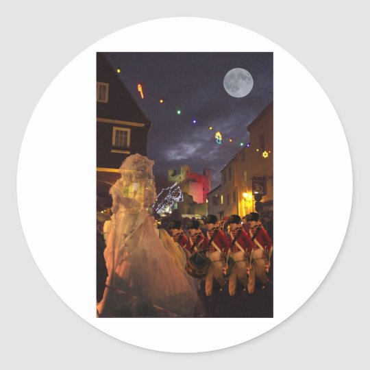Ghost of Charles Dickens Past Classic Round Sticker