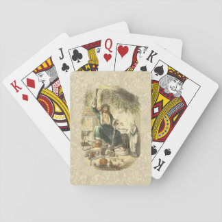Ghost of Christmas Present and Ebenezer Scrooge Playing Cards