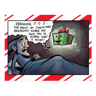 Ghost of Christmas Presents Scrooge Post Card