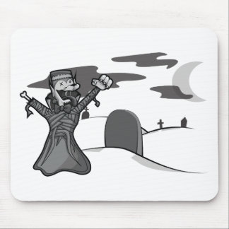 Ghost of The Zombie Count Frankenwolf Mummy Mouse Pad