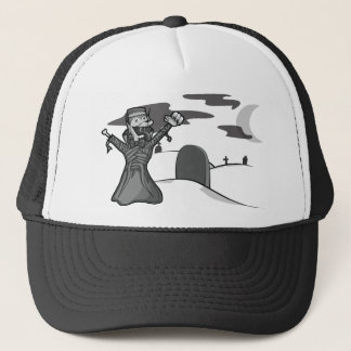 Ghost of The Zombie Count Frankenwolf Mummy Trucker Hat