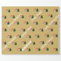 Ghost of whatsapp Merry Christmas several language Wrapping Paper