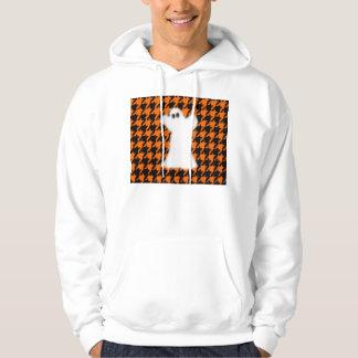 Ghost On Halloween Houndstooth Sweatshirt