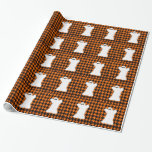 Ghost On Halloween Houndstooth Wrapping Paper