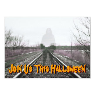 Ghost On Tracks Party Invitation