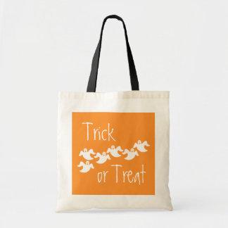 Ghost Party Halloween Bag, Orange Tote Bag