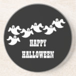 Ghost Party Halloween Coaster, Black Drink Coaster