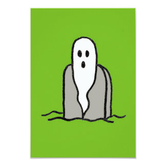 Ghost Party on Green Invitation