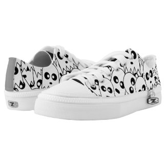 Ghost Pattern Low-Top Sneakers