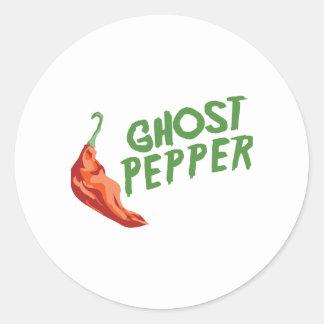 Ghost Pepper Classic Round Sticker