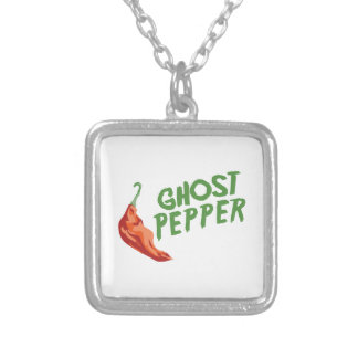 Ghost Pepper Square Pendant Necklace