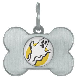 Ghost Pet Name Tag