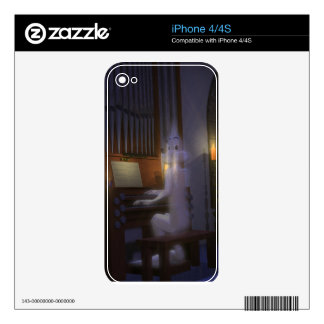 Ghost Playing Organ Decal For The iPhone 4S