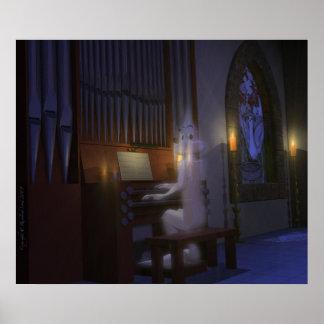 Ghost Playing Organ Poster