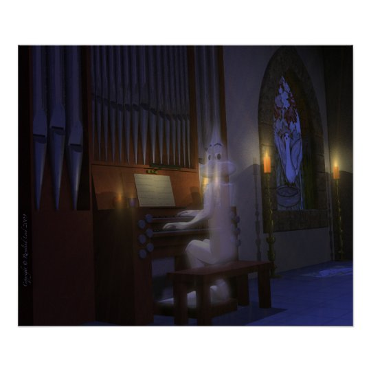 Ghost Playing Organ Poster