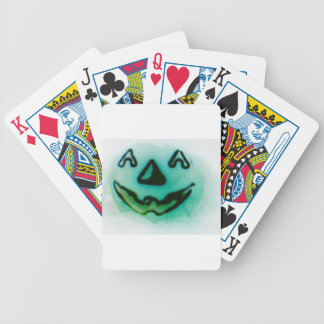 ghost pumpkin bicycle playing cards