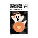 Ghost Pumpkin Postage Stamps