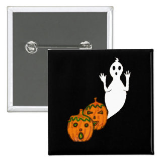 Ghost & Pumpkins 2 Inch Square Button