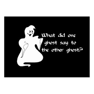 Ghost Question Large Business Cards (Pack Of 100)