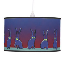 ghost rabbits hanging lamp