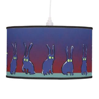 ghost rabbits hanging lamp