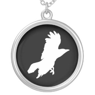 Ghost Raven Eternal Circle Necklace