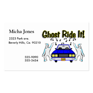 Ghost Ride It Ghost Car Double-Sided Standard Business Cards (Pack Of 100)