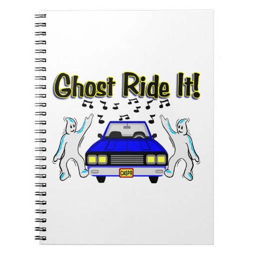Ghost Ride It Ghost Car Spiral Notebook