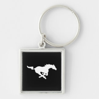 Ghost Ride Keychain Silver-Colored Square Keychain