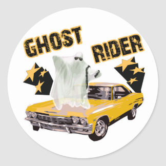 Ghost Ride The Whip Classic Round Sticker