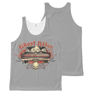 Ghost Rider Badge All-Over-Print Tank Top