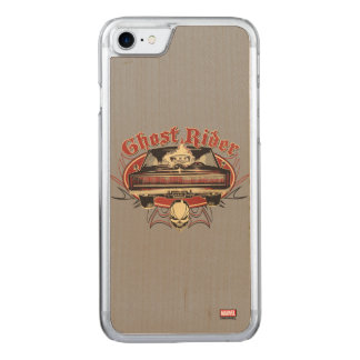 Ghost Rider Badge Carved iPhone 7 Case