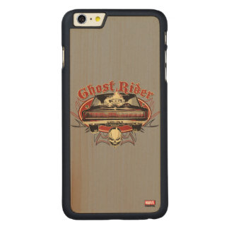 Ghost Rider Badge Carved Maple iPhone 6 Plus Slim Case