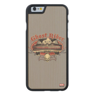 Ghost Rider Badge Carved Maple iPhone 6 Slim Case