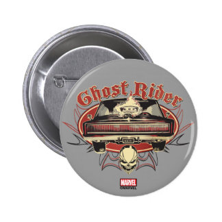 Ghost Rider Badge Pinback Button