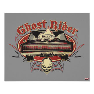 Ghost Rider Badge Poster