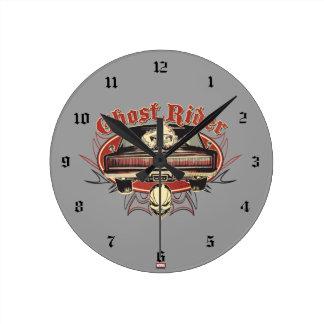 Ghost Rider Badge Round Clock