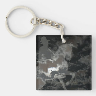 Ghost Rider Double-Sided Square Acrylic Keychain