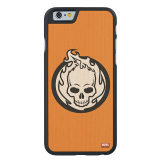 Ghost Rider Icon Carved Maple iPhone 6 Slim Case