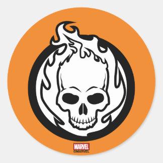 Ghost Rider Icon Classic Round Sticker