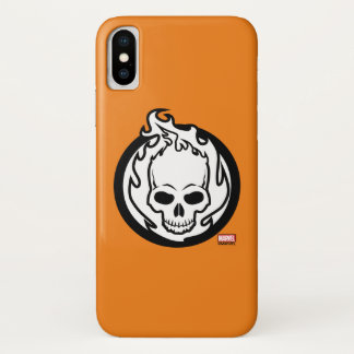 Ghost Rider Icon iPhone X Case