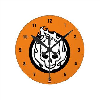 Ghost Rider Icon Round Clock