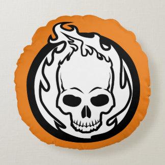Ghost Rider Icon Round Pillow
