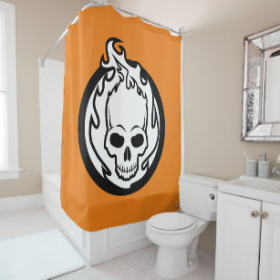 Ghost Rider Icon Shower Curtain