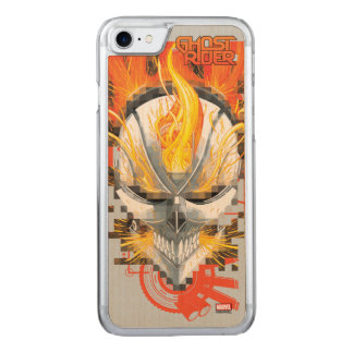 Ghost Rider Skull Badge Carved iPhone 8/7 Case