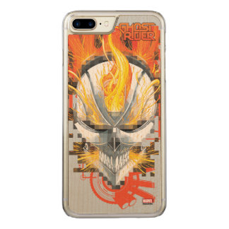 Ghost Rider Skull Badge Carved iPhone 8 Plus/7 Plus Case