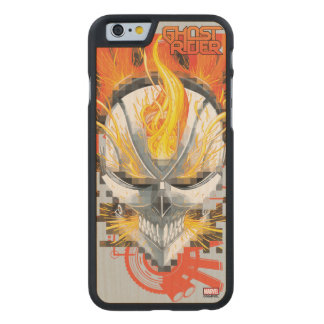 Ghost Rider Skull Badge Carved Maple iPhone 6 Slim Case
