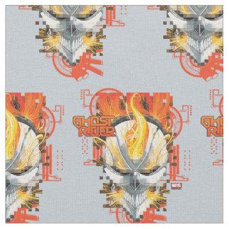 Ghost Rider Skull Badge Fabric