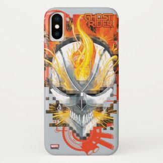 Ghost Rider Skull Badge iPhone X Case
