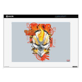 Ghost Rider Skull Badge Laptop Skin